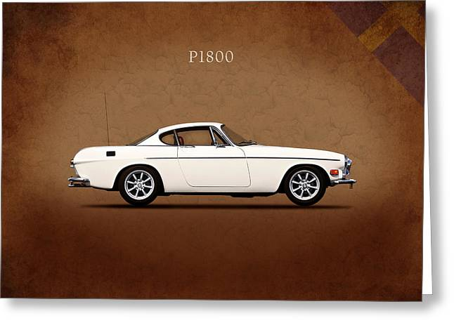 Sweden Greeting Cards - Volvo P1800 Greeting Card by Mark Rogan