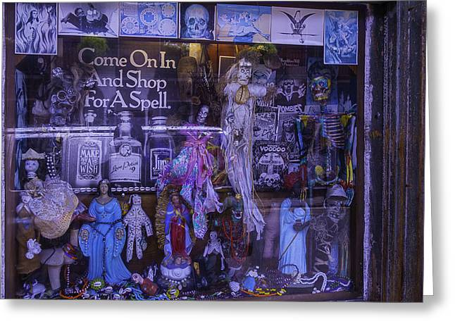 Voodoo Greeting Cards - Voo Doo Window Greeting Card by Garry Gay