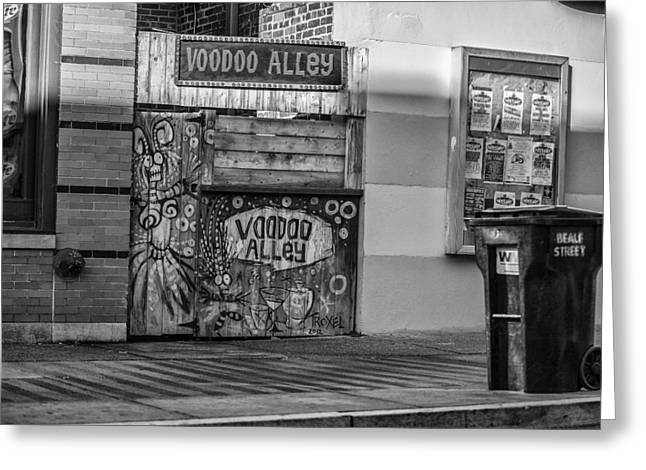 Cj Schmit Greeting Cards - VooDoo Alley Greeting Card by CJ Schmit
