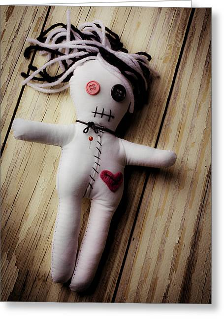 Voodoo Doll Greeting Card by Garry Gay