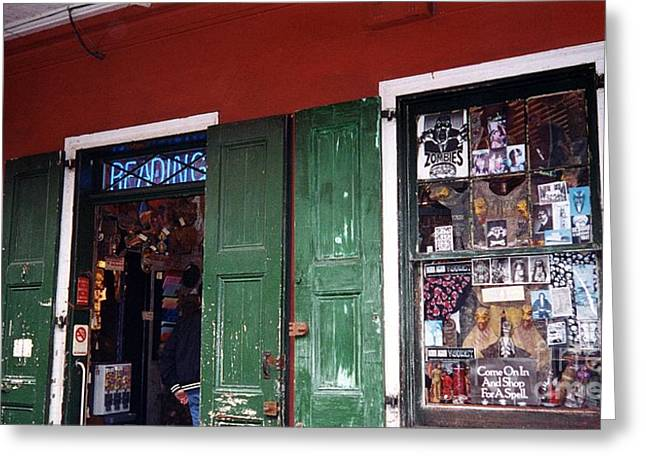 Voodoo Shop Greeting Cards - Voodoo Shop Greeting Card by Bob Bennett