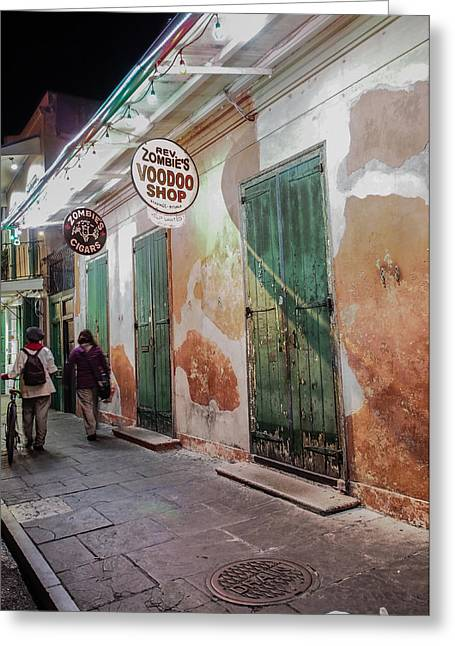 Voodoo Shop Greeting Cards - New Orleans Voodoo Shop Greeting Card by Bourne Images