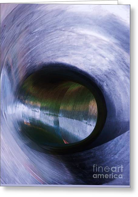Stainless Steel Greeting Cards - Vortex Greeting Card by Marcus Dagan