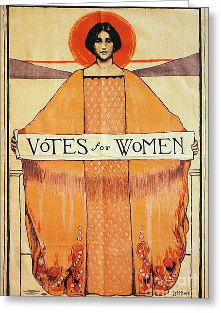 Texting Photographs Greeting Cards - Votes For Women, 1911 Greeting Card by Granger