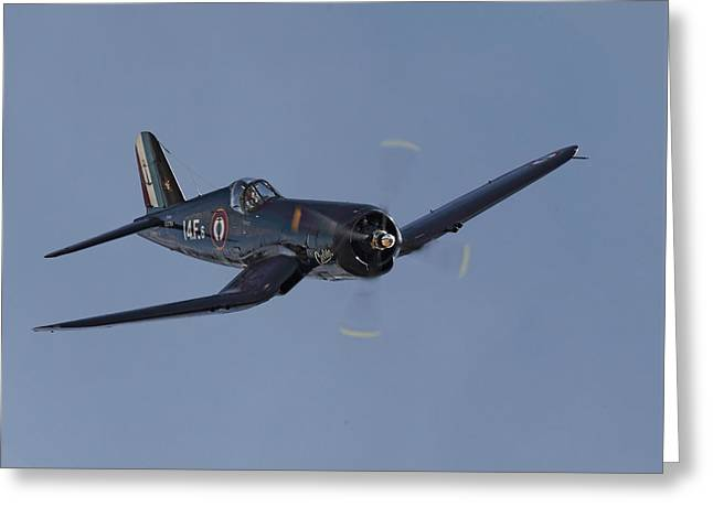 Fighter Aircraft Greeting Cards - Vought Corsair Greeting Card by Pat Speirs