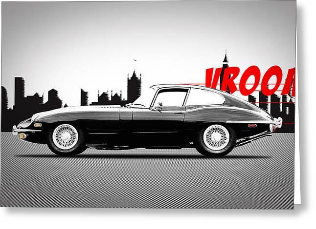 Vroom Greeting Card by Mark Rogan