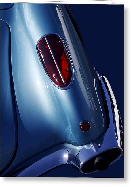 Blue Classic Car Greeting Cards - Vroom Vroom Greeting Card by Rebecca Cozart