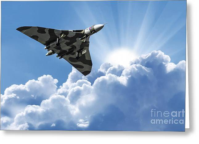 Vulcan To The Skies Greeting Card by Stephen Smith