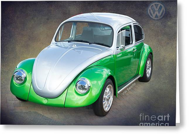 Subcompact Greeting Cards - VW Beetle by Darrell Hutto Greeting Card by Darrell Hutto