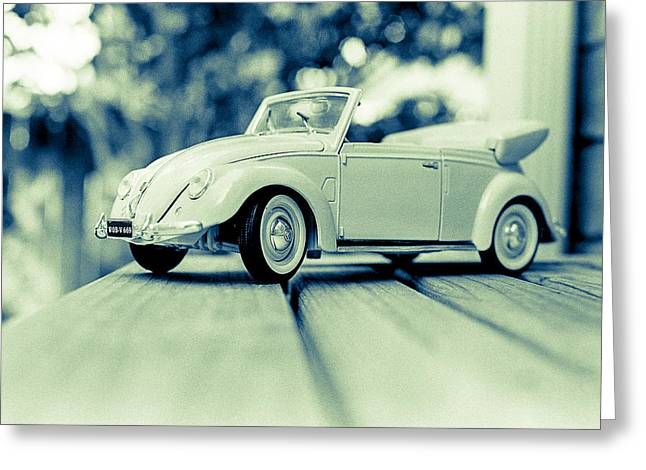 Vw Beetle Convertible Greeting Card by Jon Woodhams