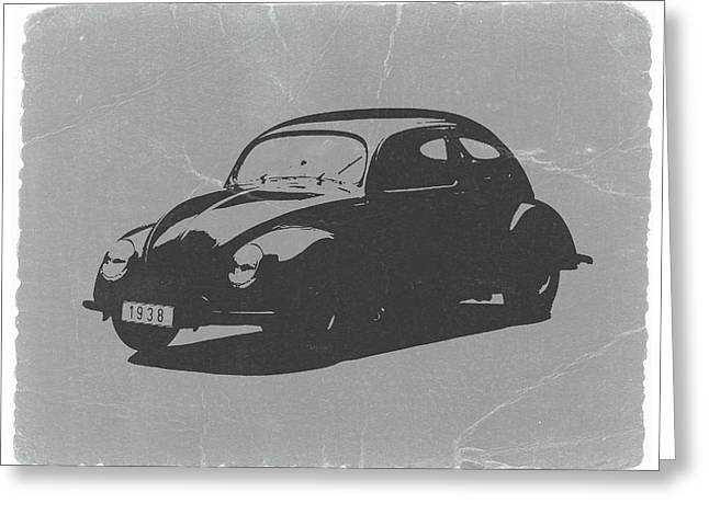 Vintage Cars Greeting Cards - VW Beetle Greeting Card by Naxart Studio