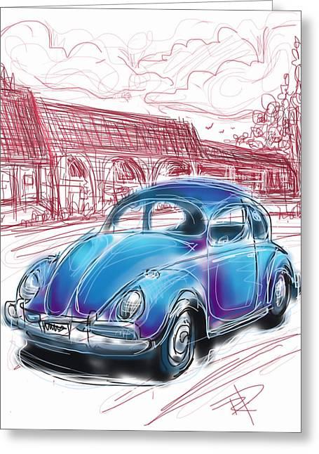 Vw Beetle Greeting Cards - VW Beetle Greeting Card by Russell Pierce