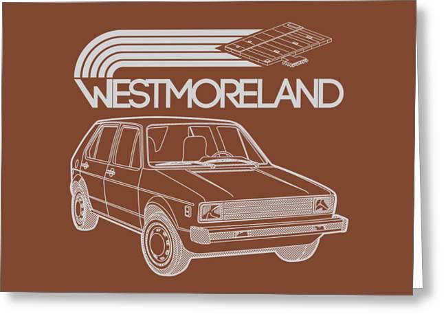 Vw Rabbit - Westmoreland Theme - Gray Greeting Card by Ed Jackson