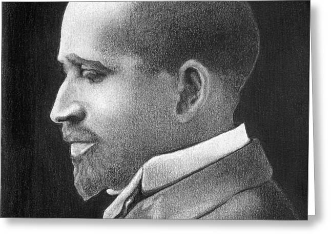 W E B Du Bois Greeting Card by Curtis Maultsby