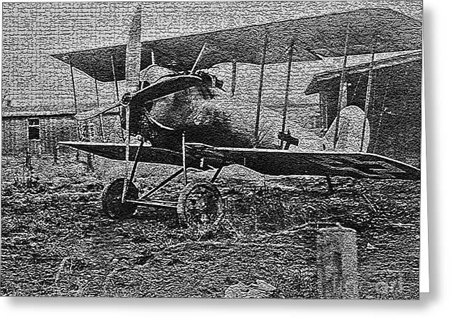 Wwi Greeting Cards - W W I Airplane Greeting Card by Steven Parker
