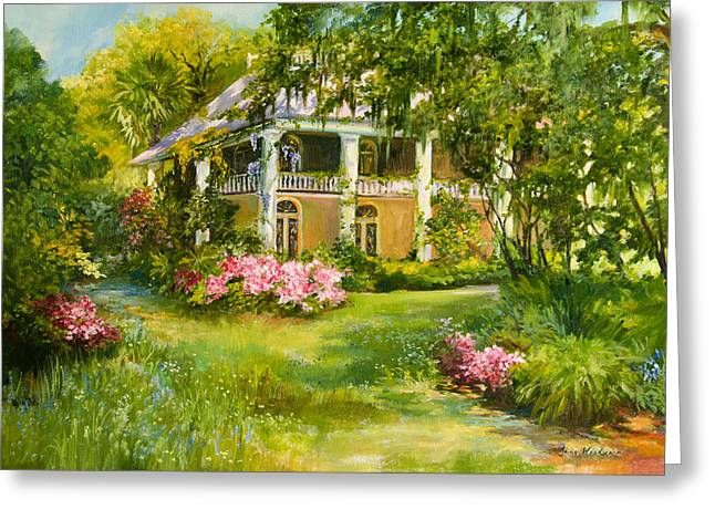 Plantation Greeting Cards - Wachesaw Plantation Greeting Card by Jane Woodward