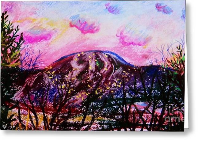 Wachusett Pastel Sunset Greeting Card by Emily Michaud