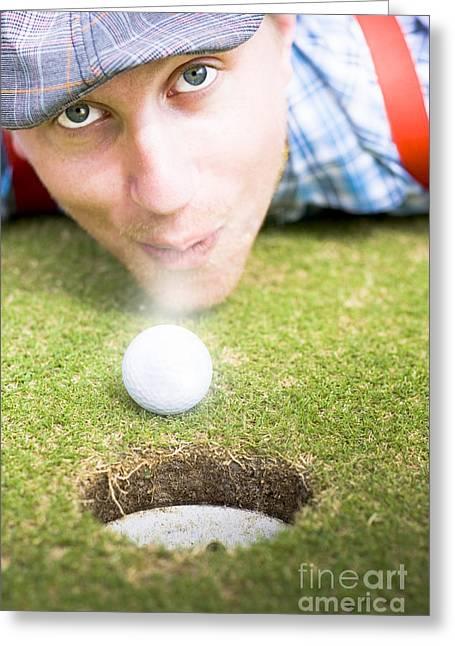 Wacky Golf Greeting Card by Jorgo Photography - Wall Art Gallery