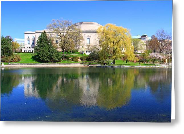 Pond In Park Greeting Cards - Wade Park Lagoon Cleveland Ohio Greeting Card by Dan Sproul