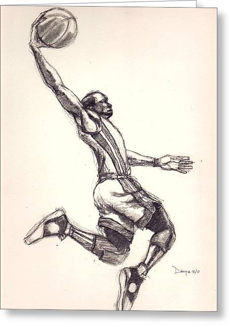 Basketballs Greeting Cards - Wade the Gladiator Greeting Card by Dallas Roquemore