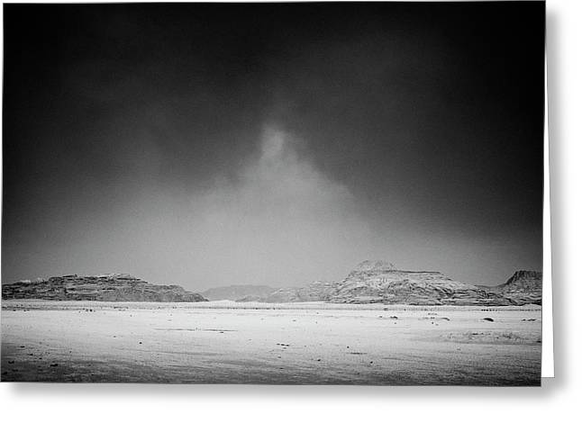 Osten Greeting Cards - Wadi Rum Greeting Card by Tarek Charara