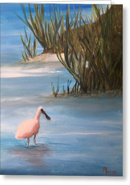 Wading Greeting Card by Betty Pimm