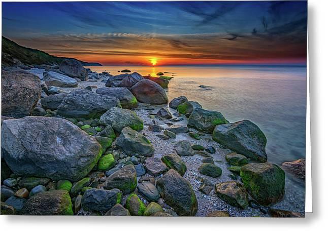 Wading River Sunset Greeting Card by Rick Berk