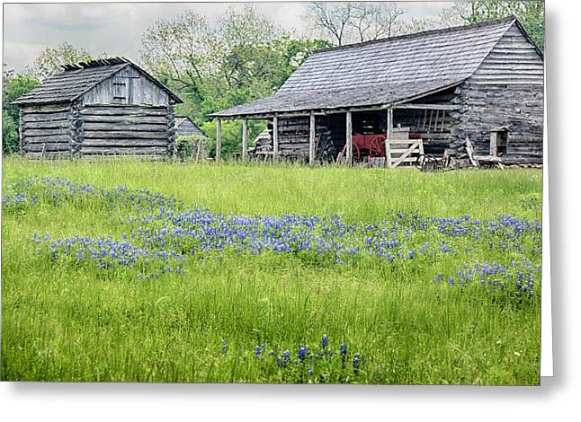 Wagon In A Barn Greeting Cards - Wagon Barn Greeting Card by Charles McKelroy