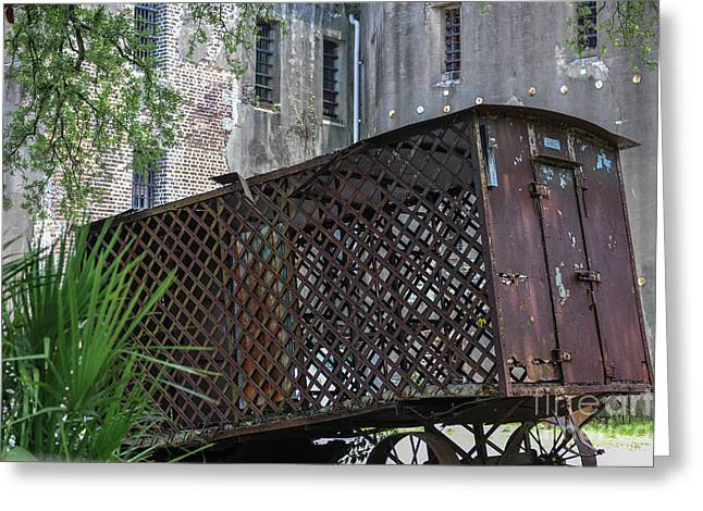 Jail House Wagon  Greeting Card by Dale Powell