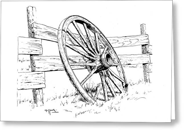 Bob Hallmark Greeting Cards - Wagon Wheel Greeting Card by Bob Hallmark