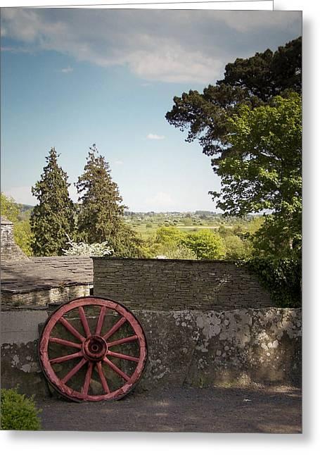 Wagon Wheels Greeting Cards - Wagon Wheel County Clare Ireland Greeting Card by Teresa Mucha
