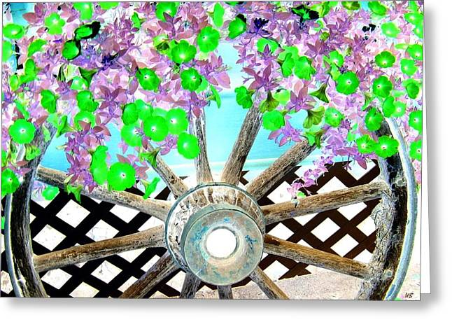 Wagon Wheels Digital Art Greeting Cards - Wagon Wheel Greeting Card by Will Borden