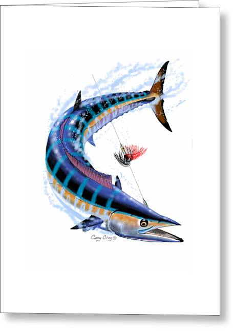 Wahoo Digital Greeting Card by Carey Chen