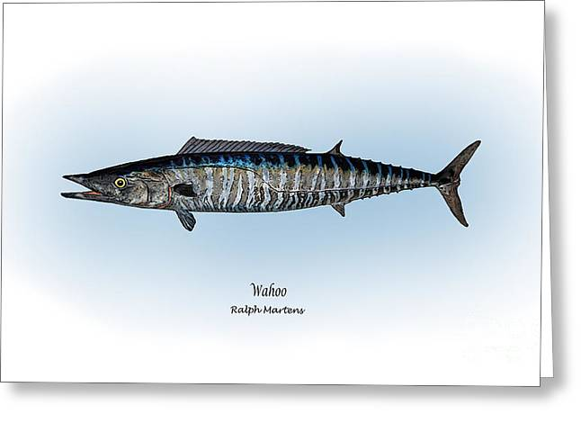 Wahoo Drawings Greeting Cards - Wahoo Greeting Card by Ralph Martens