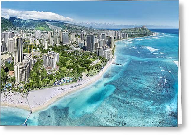 Greeting Cards - Waikiki Wonderland Greeting Card by Sean Davey