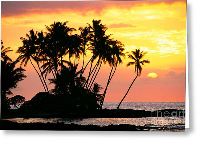 Amazing Sunset Greeting Cards - Wailua Bay, View Greeting Card by Bob Abraham - Printscapes