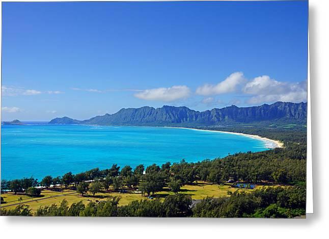 Skystudiohawaii Greeting Cards - Waimanalo Bay Hawaii  Greeting Card by Kevin Smith