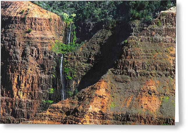 Waimea Falls Greeting Cards - Waimea Canyon four Greeting Card by Michael Peychich