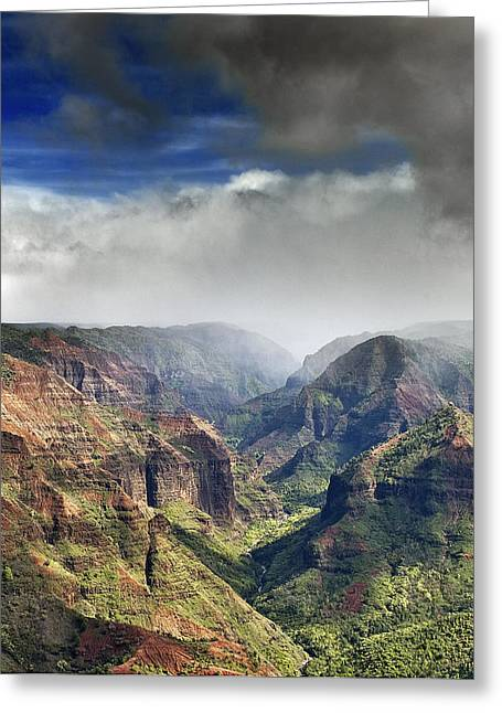 Waimea Valley Greeting Cards - Waimea Canyon Kauai Hawaii Greeting Card by Brendan Reals