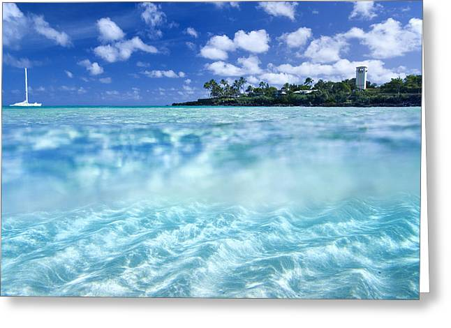 Translucence Greeting Cards - Waimea Pool Greeting Card by Sean Davey