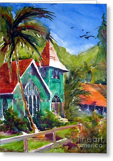 Kauai Greeting Cards - Waioli Church Greeting Card by Jerri Grindle
