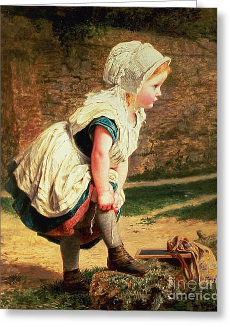 Pulling Greeting Cards - Wait for Me Greeting Card by Sophie Anderson