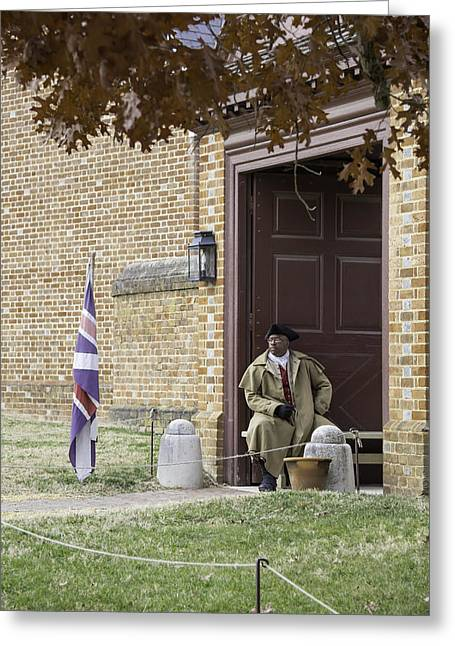 Colonial Actors Greeting Cards - Waiting at the Palace Greeting Card by Teresa Mucha