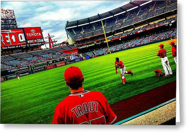 Autographed Baseball Greeting Cards - Waiting For An Angel Greeting Card by Adam Milsted