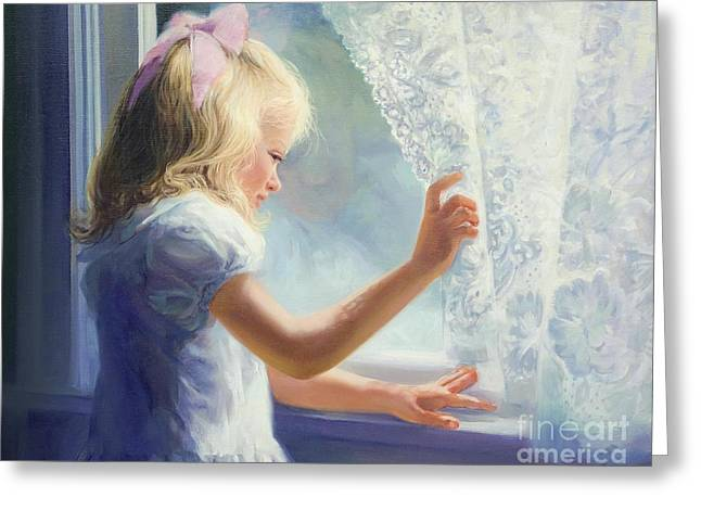 Waiting For Grandma Greeting Card by Laurie Hein