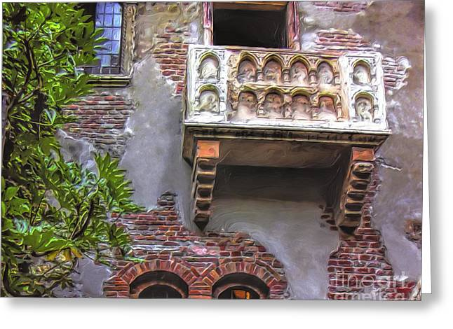 Waiting For Juliet Greeting Card by GabeZ Art
