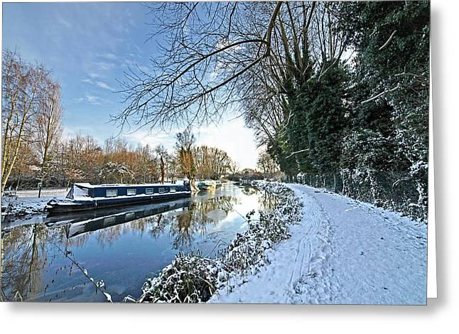 White River Scene Greeting Cards - Waiting For Spring Greeting Card by Gill Billington