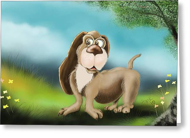 Beagle Prints Greeting Cards - Waiting for Spring Greeting Card by Hank Nunes