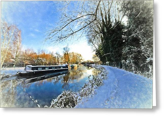 Reflections In River Greeting Cards - Waiting For Spring - Impressions Greeting Card by Gill Billington