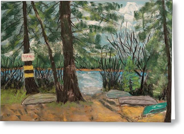 Canoe Pastels Greeting Cards - Waiting for Spring Greeting Card by Stephen Raley